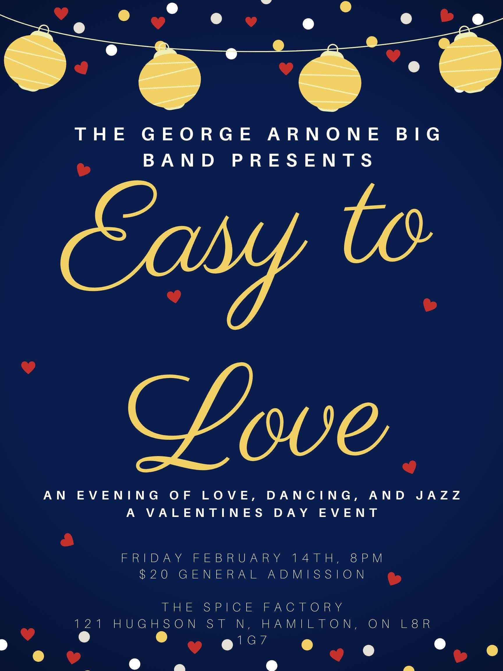 Easy to Love Concert by the George Arnone Big Band