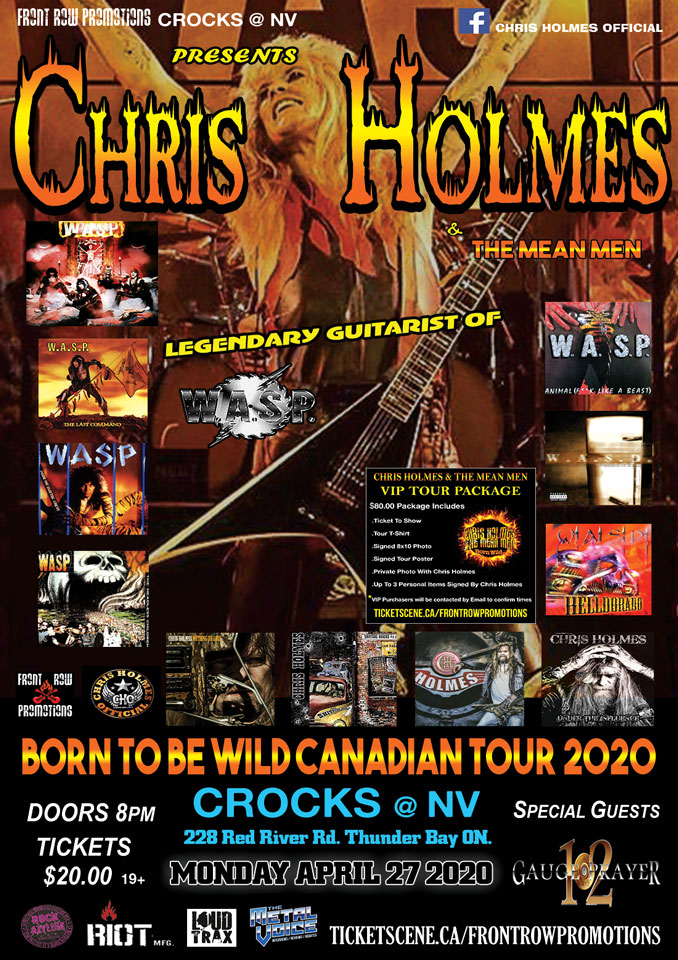 Chris Holmes & The Mean Men The Legendary Guitarist Of WASP