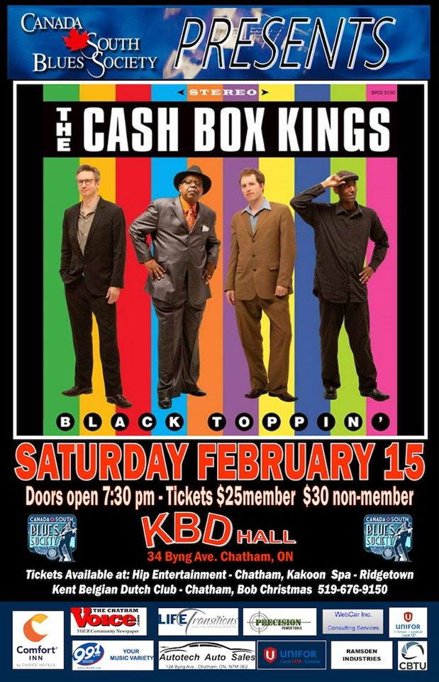 Cashbox Kings presented by Canada South Blues Society (Chatham/Kent)