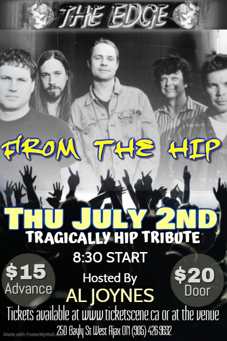 FROM THE HIP (Tragically Hip Tribute)