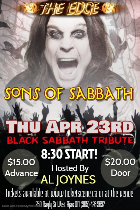 SONS OF SABBATH (Black Sabbath Tribute)