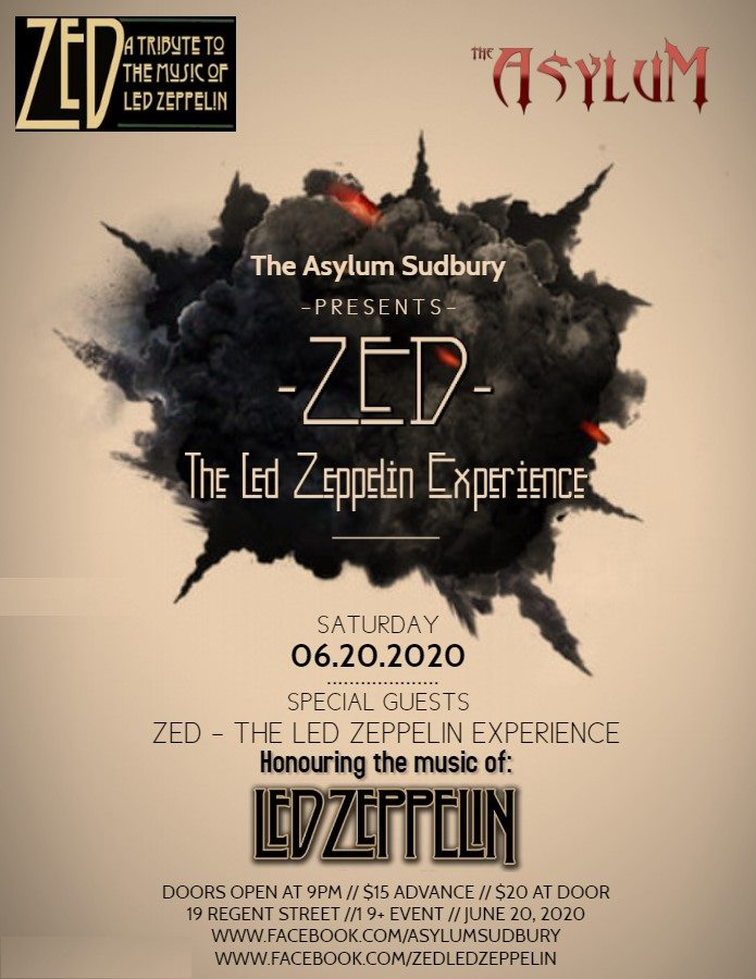 Zed: The Led Zeppelin Experience live in Sudbury