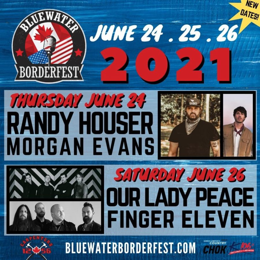 Randy Houser & Morgan Evans at Sarnia's Bluewater BorderFest - Thursday, June 24, 2021