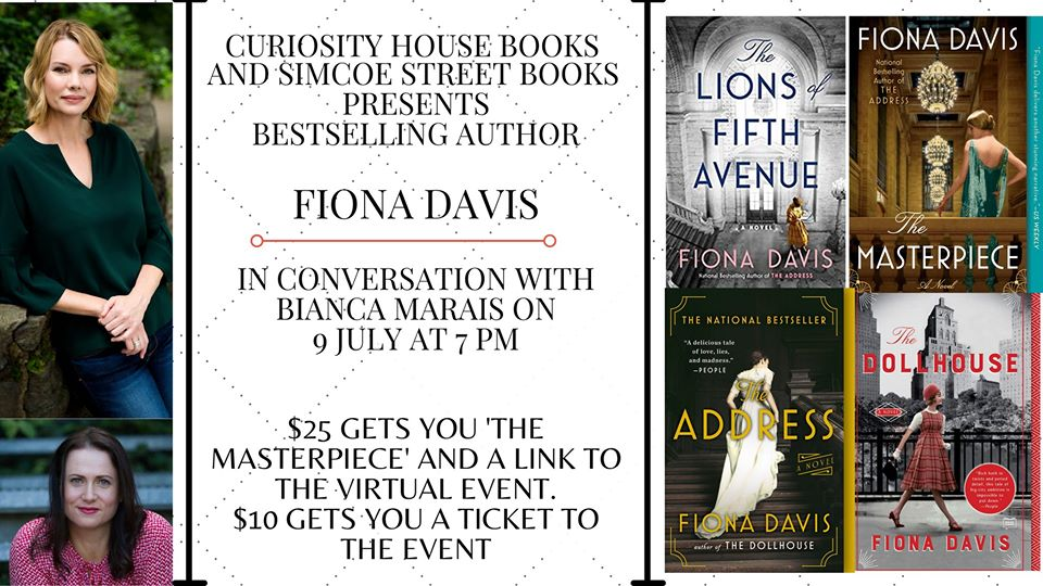 Virtual Event: Fiona Davis in conversation with Bianca Marais