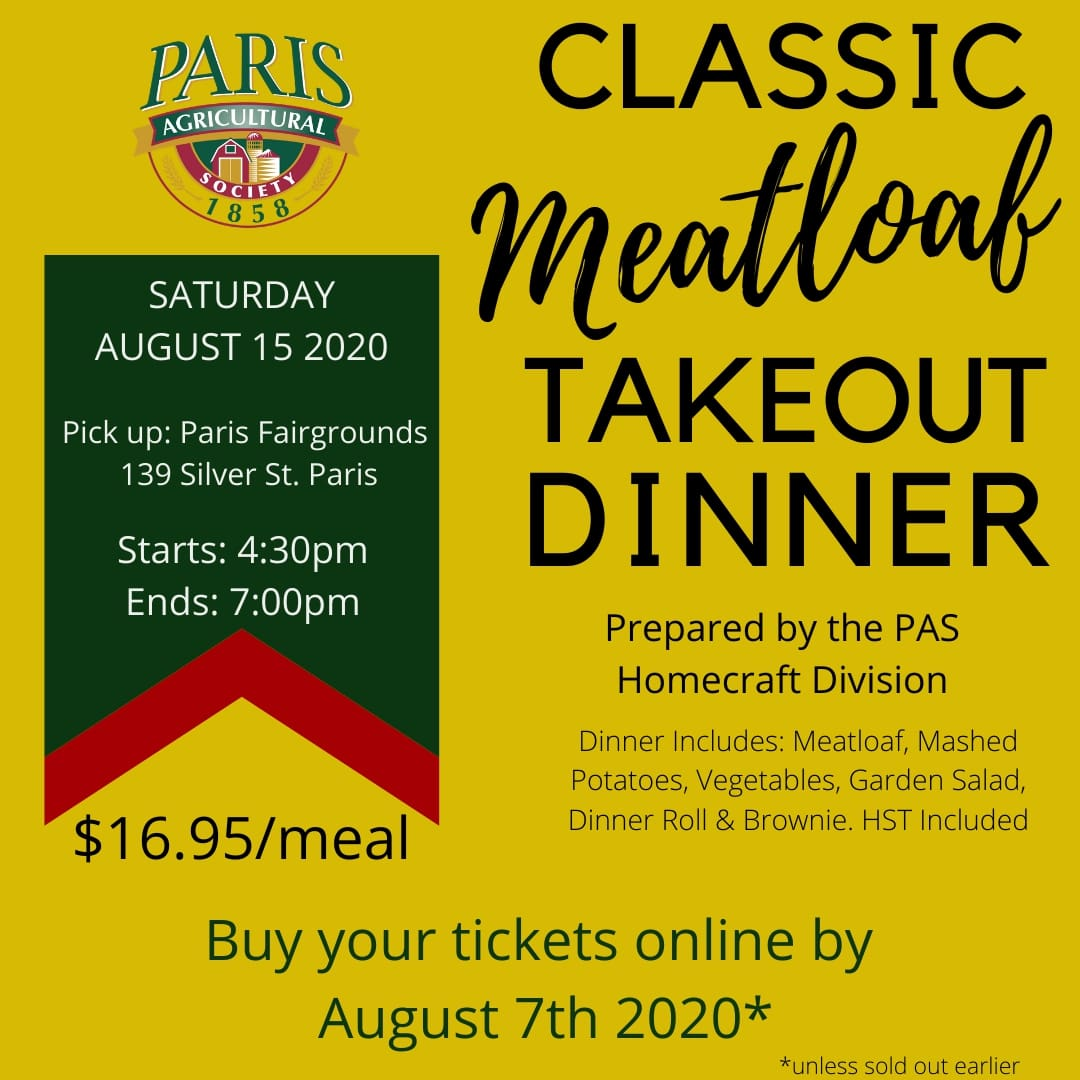 Classic Meatloaf Takeout Dinner by PAS Homecraft