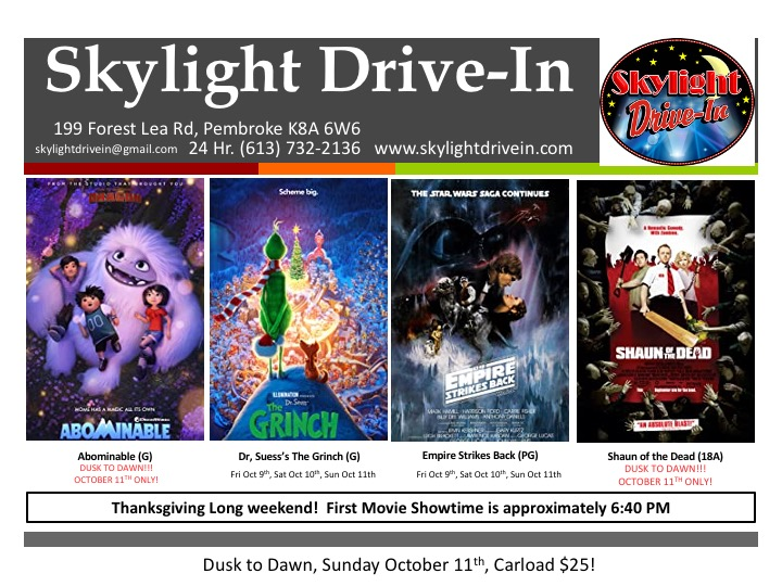 Dusk To Dawn at the Skylight Drive-In! 4 Movies Tonight! $25 for a carload tonight Only!