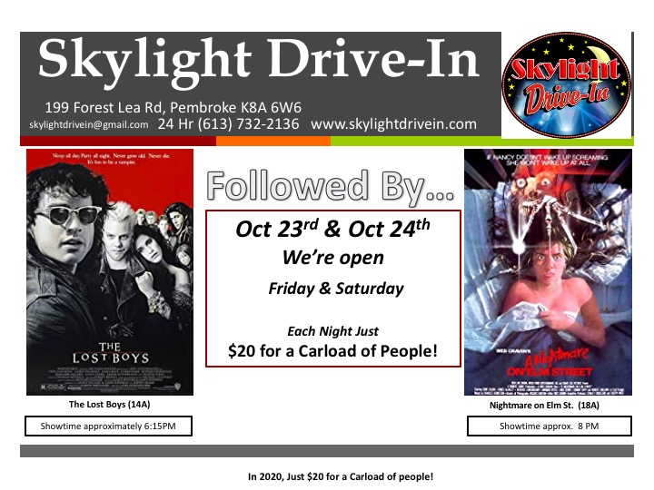 Skylight Drive-In; The Lost Boys with Nightmare on Elm Street