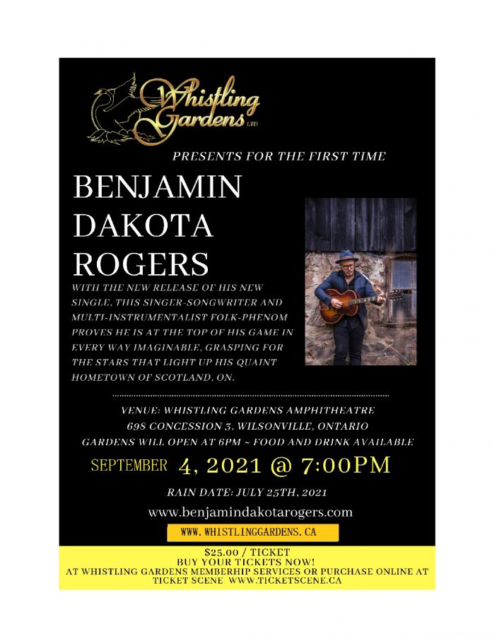Whistling Gardens presents Benjamin Dakota Rogers