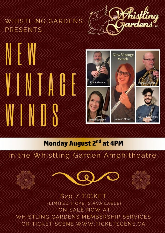 Whistling Gardens presents New Vintage Winds