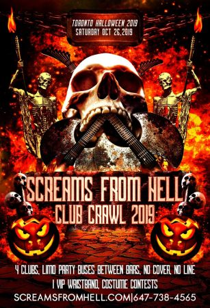 Halloween Club/Pub Crawl 2018 Toronto: Screams From Hell Party Event