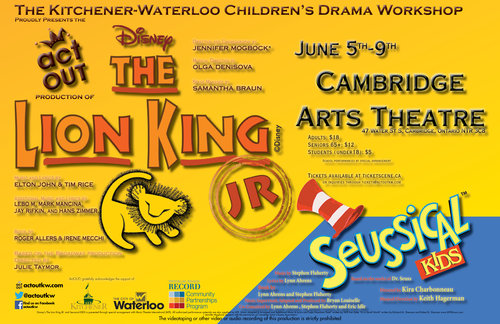 The Lion King Jr Jungle Cast With Opening Act Seussical Kids The Lion King Jr With Opening Act Seussical Kids On Thursday F